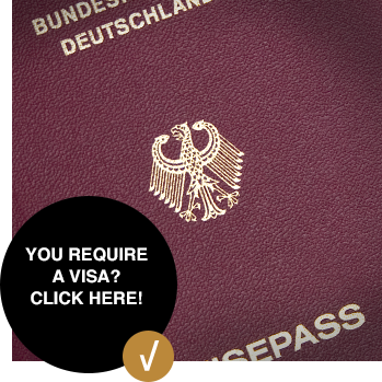 You require a visa? Click here!